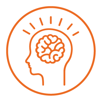 pictogram of a brain symbolizing new ideas