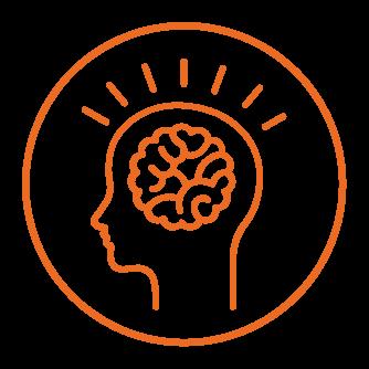 pictogram of a brain symbolizing new ideas
