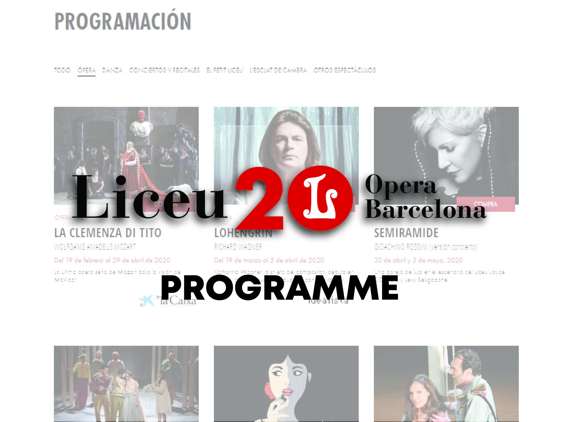 Link Liceu Opera Barcelona Programme